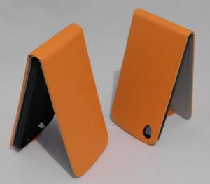 Pouzdro Forcell Flip Flexi Alcatel One Touch IDOL 3 6039Y 4.7 Oranžové