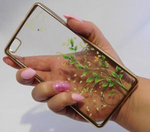 Pouzdro Diamonds design Huawei Ascend P8 Lite Zelené