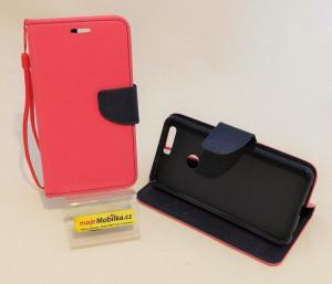 Pouzdro TEL1 Fancy Diary Huawei Honor 8 Růžové