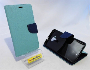 Pouzdro Fancy Book - ASUS Zenfone 3 ZE552KL Světle modré