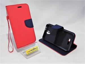 Pouzdro Telone Fancy Alcatel Pop 4 5051D Červené