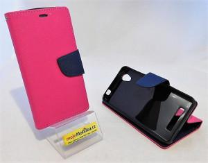 Fancy Book pouzdro - ZTE A452 Růžové