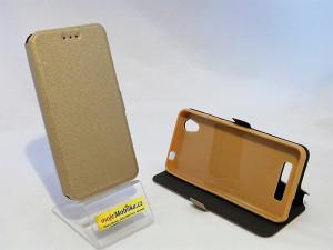 Pouzdro Book Flexi Pocket ZTE A452 Zlaté