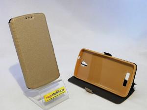 Pouzdro Book Flexi Pocket ZTE Blade L5 Zlaté