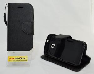 Pouzdro Fancy Book Vodafone Smart Mini 7 černé