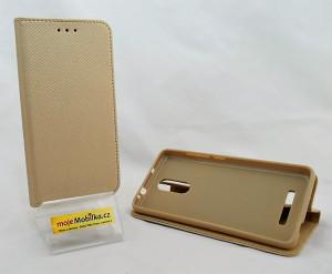 Pouzdro Smart Magnet Xiaomi Redmi Note 3 Zlaté