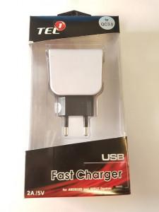 TEL1 nabíječka USB 2,5A Quick Charge 3.0
