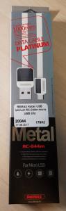 REMAX Kabel USB Platinum RC-044m micro USB bílý
