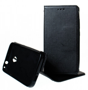 Pouzdro Smart Magnet Alcatel U5 4G 5044Y / 5044D Černé
