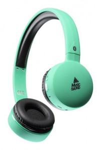 Bluetooth sluchátka MUSIC SOUND s hlavovým mostem a mikrofonem, modrá