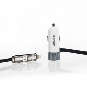 REMAX Nabíječka do auta - RCC-102 2v1 Usb 3,4 A stříbrná