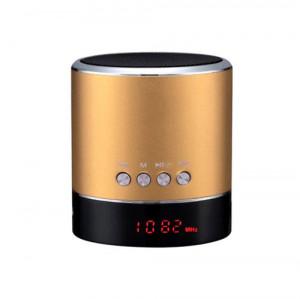 Vennus Multimediální reproduktor Bluetooth - A38s s rádiem a displejem zlatá 5245777