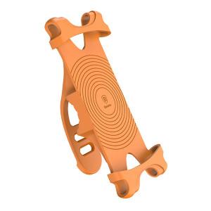 Baseus silikonový držák na kolo pro mobilní telefon oranžový SUMIR-BY07