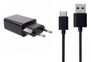 Xiaomi MDY-08-DF Cestovní nabíječka + Type C Datový kabel Black (BULK)