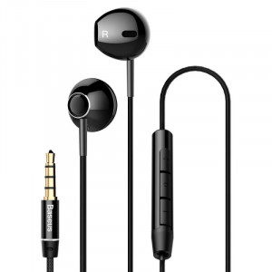 Baseus Earphone Enock H06 lateral in-ear Wire Black (NGH06-01)