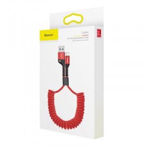Baseus Fish Eye Spring kabel USB / Lightning Červený (CALSR-09)