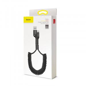Baseus Fish Eye Spring kabel USB / Typ C Černý (CATSR-01)