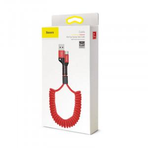 Baseus Fish Eye Spring kabel USB / Typ C Červený(CATSR-09)