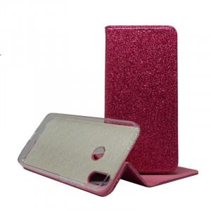Pouzdro Shining book Xiaomi Redmi Note 7 Růžové