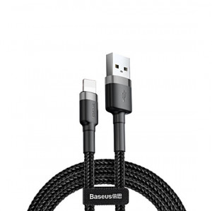 Baseus Cafule USB kabel - iPhone lightning QC 3,0 / 1m / 2,4A black-grey CALKLF-BG1