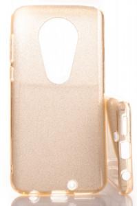 Pouzdro Glitter 3V1 Case Motorola Moto G7 Zlaté