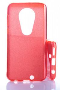Pouzdro Glitter 3V1 Case Motorola Moto G7 Červené