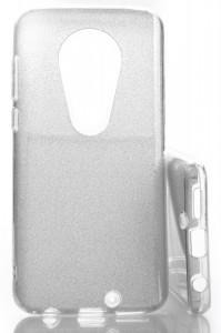 Pouzdro Glitter 3V1 Case Motorola Moto G7 Stříbrné