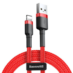 Baseus Cafule USB kabel - iPhone lightning QC 3,0 2m 1,5A red CALKLF-C09