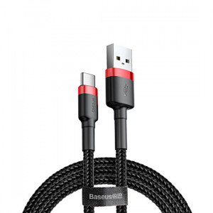 Baseus CATKLF-U91 USB - USB-C, 2A, 3m, černo-červený