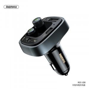 Vysílač REMAX FM + auto nabíječka 2xUSB 4,8A RCC230