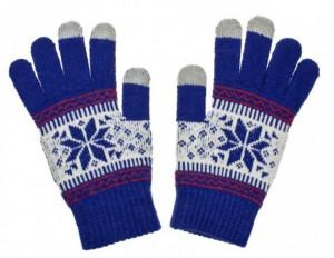 Dámské rukavice NORDIC pro dotykové displeje blue