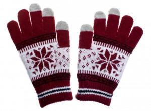 Dámské rukavice NORDIC pro dotykové displeje red