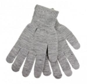 Pánské rukavice na dotykový displej šedé