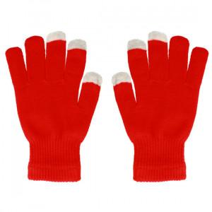 Rukavice na dotykový displej červené