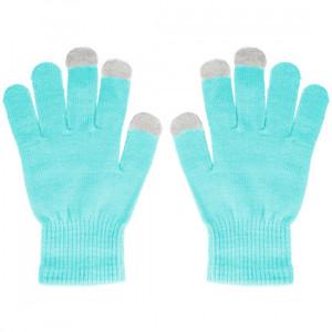 Rukavice na dotykový displej Světle modré