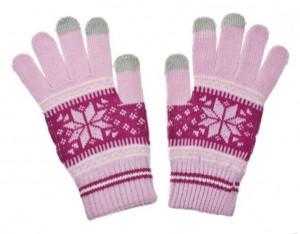 Dámské rukavice NORDIC pro dotykové displeje pink