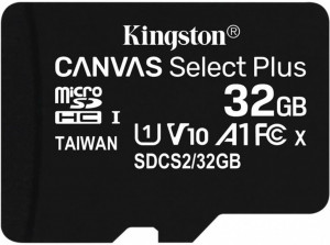 Kingston Canvas Select Plus 32GB microSDHC karta, UHS-I U1, A1; SDCS2/32GBSP