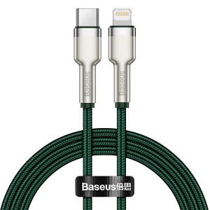 Baseus Kabel Cafule Metal USB Typ C na Lightning PD 20W 1 metr CATLJK-A06 Zelený