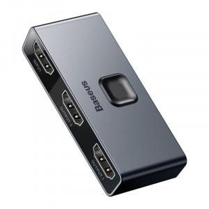 Baseus Matrix HDMI Splitter (2in1 or 1in2) Space Gray, CAHUB-BC0G