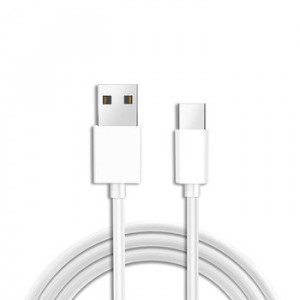 Usb kabel USB Typ C 8mm prodloužený konektor Bílý