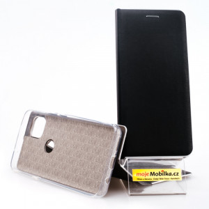 Pouzdro Vennus Book Silver Motorola Moto G 5G Černé