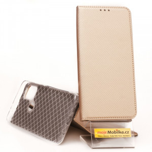 Pouzdro Smart Case Book Motorola G30 Zlaté