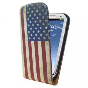Pouzdro Slim Flip Case 2 Samsung G900 G903 Galaxy S5 American Flag