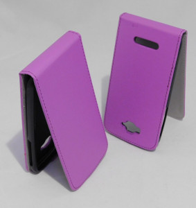 Pouzdro ForCell Slim Flip Flexi Alcatel One Touch Pop C7 Fialové