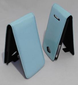 Pouzdro ForCell Slim Flip Flexi Alcatel One Touch Pop C7 Světle Modré