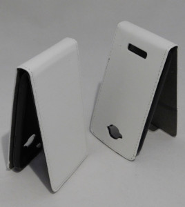 Pouzdro ForCell Slim flip Flexi Alcatel One Touch Pop C7 bílé