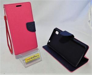 Pouzdro TEL1 Fancy Diary Sony Xperia M4 Aqua E2303 Růžové