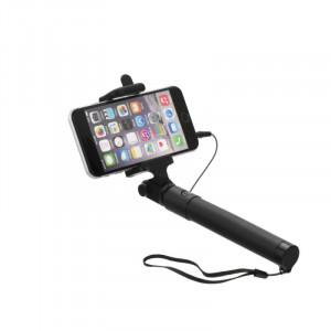 Selfie držák s dálkovým ovládáním v rukojeti (3,5 mm jack kabel) Černá