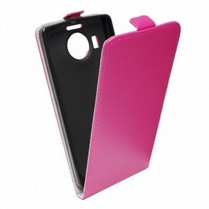 Pouzdro Forcell Slim Flip 2 flexi Microsoft Lumia 535 Růžové
