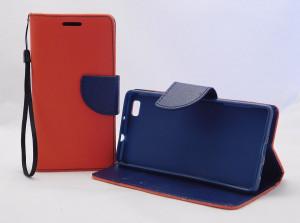 Pouzdro Fancy Book Huawei P8 Lite červené